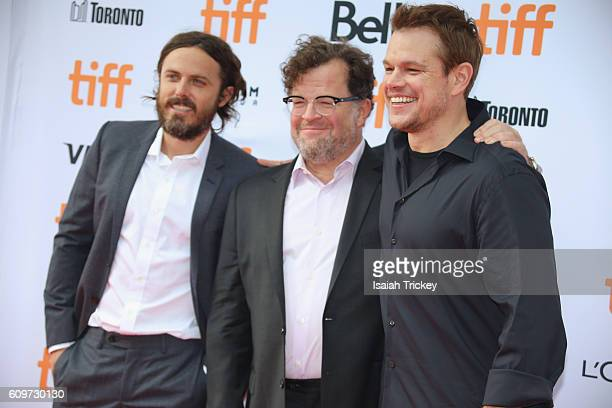 Casey Affleck Writer/director Kenneth Lonergan and Producer Matt Damon attend Amazon Studios' 'Manchester By The Sea' Toronto International Film...