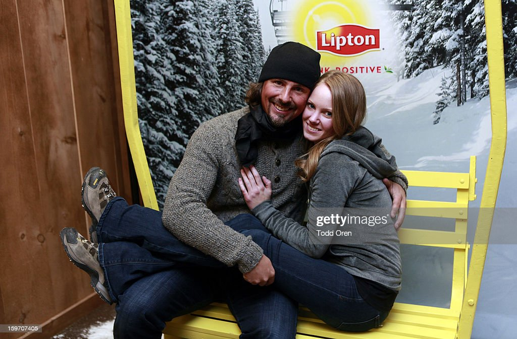 Casey Anderson (L) attends Sears Shop Your Way Digital Recharge Lounge on January 18, 2013 in Park City, Utah.