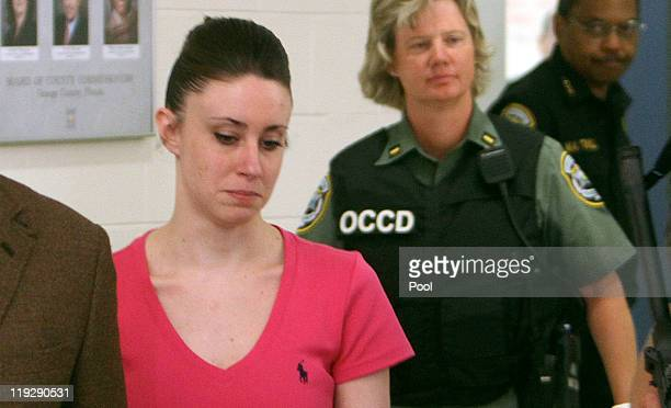 Casey Anthony leaves from the Booking and Release Center at the Orange County Jail after she was acquitted of murdering her daughter Caylee Anthony...