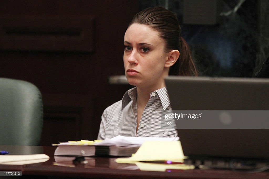 <a gi-track='captionPersonalityLinkClicked' href=/galleries/search?phrase=Casey+Anthony&family=editorial&specificpeople=7188333 ng-click='$event.stopPropagation()'>Casey Anthony</a> listens to the testimony of Krystal Holloway, who claims to have had an affair with Anthony's father, during her murder trial at the Orange County Courthouse on June 30, 2011 in Orlando, Florida. Anthony's defense attorneys argued that she didn't kill her two-year-old daughter Caylee, but that she accidentally drowned.