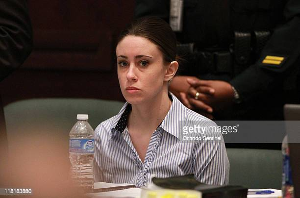 Casey Anthony sits at the defense table after the jury left to begin deliberations in her murder trial at the Orange County Courthouse in Orlando...