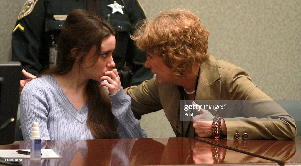 <a gi-track='captionPersonalityLinkClicked' href=/galleries/search?phrase=Casey+Anthony&family=editorial&specificpeople=7188333 ng-click='$event.stopPropagation()'>Casey Anthony</a> (L) talks with her attorney Dorothy Clay Sims at her sentencing hearing on charges of lying to a law enforcement officer at the Orange County Courthouse July 7, 2011 in Orlando, Florida. Anthony was acquitted of murder charges on July 5, 2011 but will serve four, one-year sentences on her conviction of lying to a law enforcement officer. She will be credited for the nearly three-years of time served and good behavior and will reportedly be released in late July or early August.
