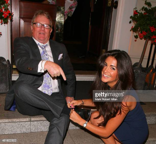 Casey Batchelor and Jim Davidson attending the OK Magazine World Cup Summer BBQ on July 7 2014 in London England