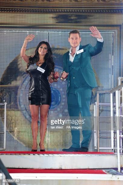 Casey Batchelor and Lee Ryan entering the Celebrity Big Brother House Elstree Studios Hertfordshire