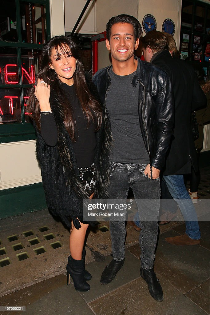 Casey Batchelor and Ollie Locke at The Big Easy restaurant on the Kings Road on February 5, 2014 in London, England.