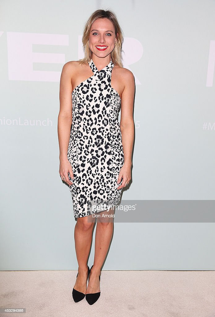 Casey Burgess arrives at the Myer Spring Summer 2014 Fashion Launch at Carriageworks on August 7, 2014 in Sydney, Australia.