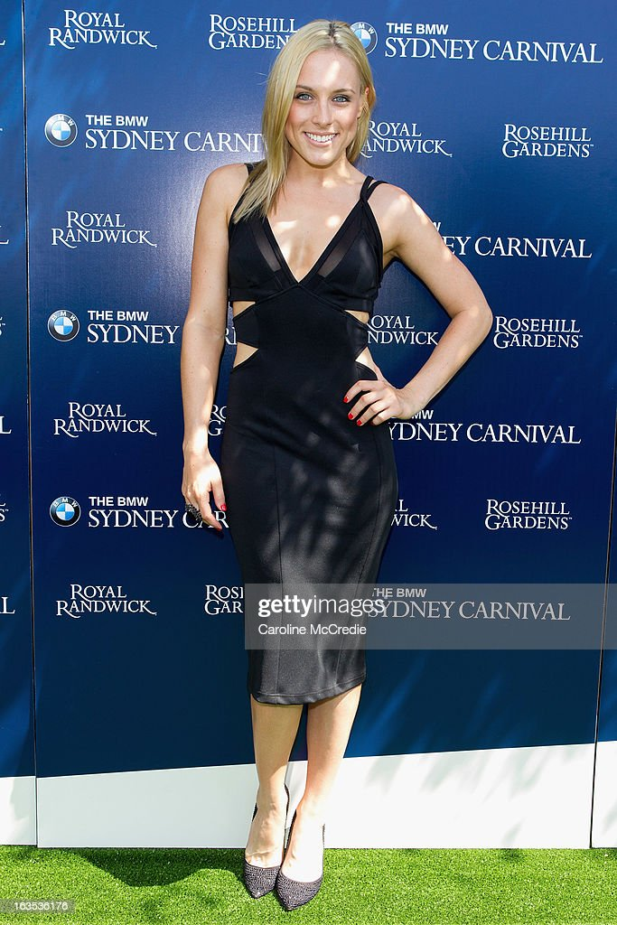 Casey Burgess at the BMW Sydney Carnival launch at Centennial Park on March 12, 2013 in Sydney, Australia.