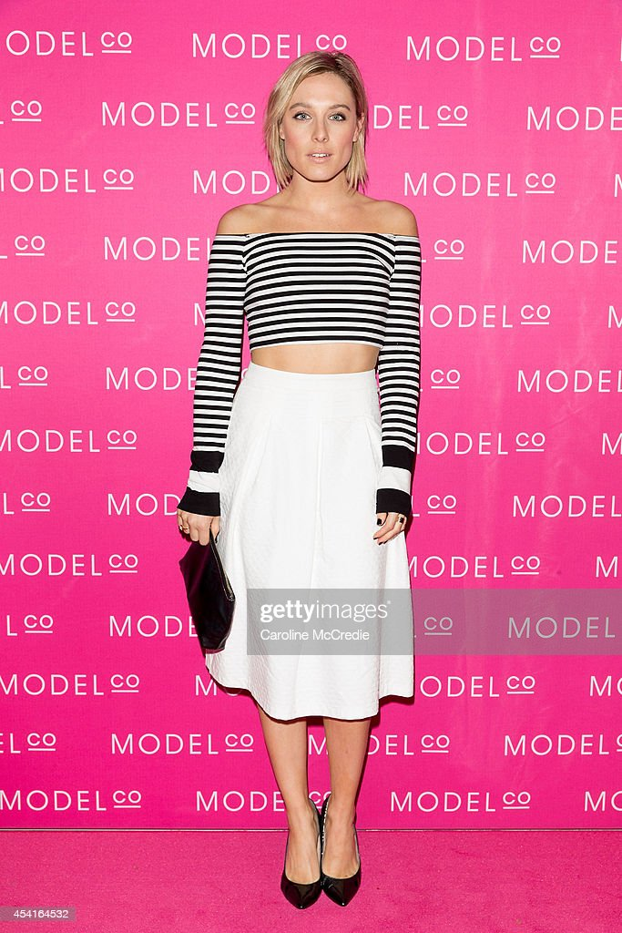 Casey Burgess attends the launch of ModelCo natural skincare collection at Customs House on August 26 2014 in Sydney Australia ModelCo ambassador...