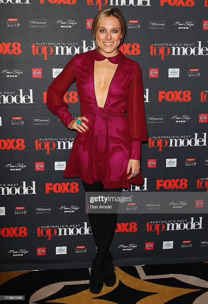 Casey Burgess poses at the launch of Australia's Next Top Model Season 8 at Doltone House on July 4, 2013 in Sydney, Australia.