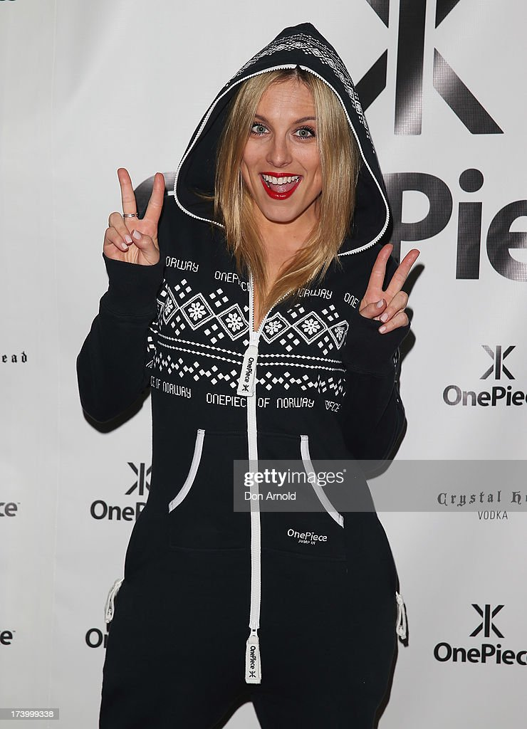 Casey Burgess poses during the OnePiece onesie Australian launch at the Bucket List at the Bondi Beach on July 19, 2013 in Sydney, Australia.
