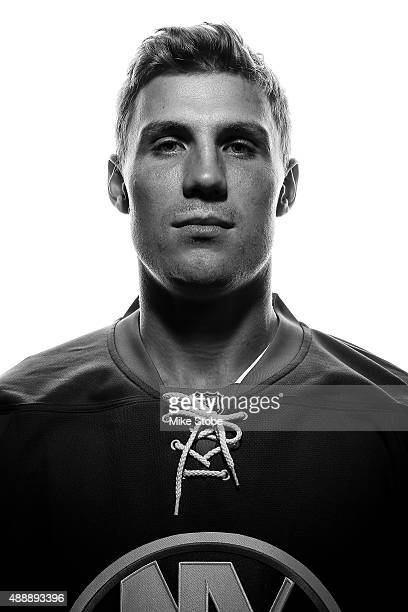 Casey Cizikas of the New York Islanders poses for a portrait on September 17 2015 at the Nassau Coliseum in Uniondale New York