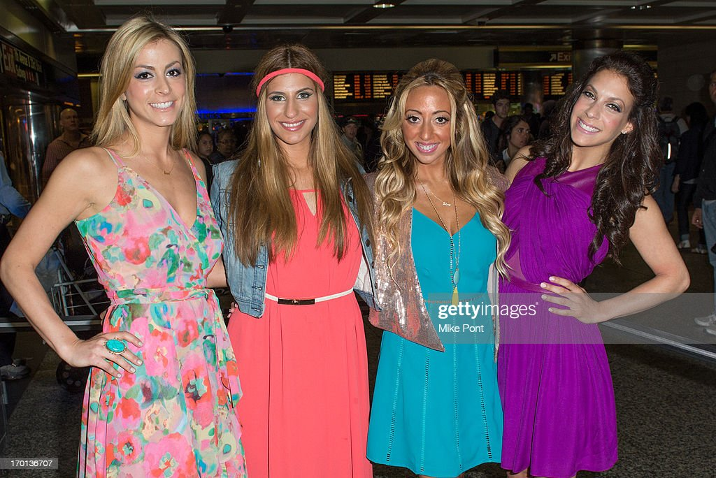 Casey Cohen, Chanel 'Coco' Omari, Amanda Bertoncini, and Joey Lauren attend 'Princesses: Long Island' Cast Photo Call at Penn Station on June 7, 2013 in New York City.