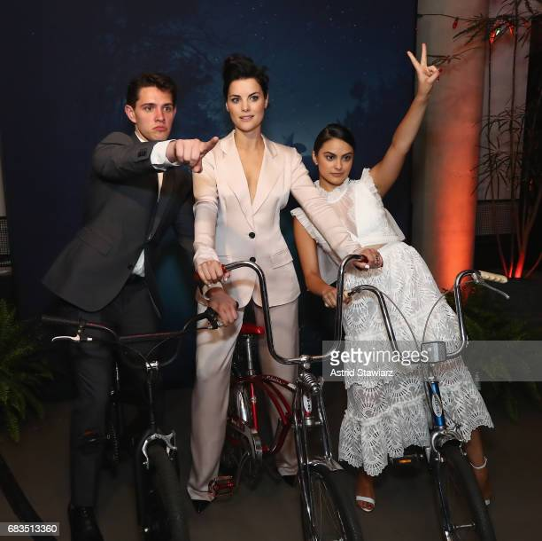 Casey Cott Jaimie Alexander and Camila Mendes attend the Entertainment Weekly and PEOPLE Upfronts party presented by Netflix and Terra Chips at...