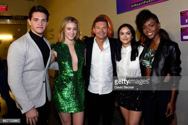 Casey Cott Lili Reinhart Ryan Seacrest Camila Mendes and Ashleigh Murray attend the 2017 iHeartRadio Music Festival at TMobile Arena on September 23...