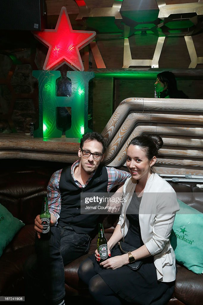 Casey DeSantis (L) attends the Tribeca Film Festival 2013 After Party 'Before Midnight' sponsored by Heineken on April 22, 2013 in New York City.