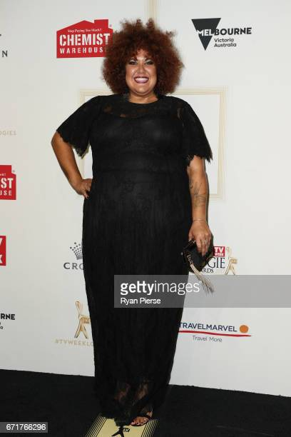 Casey Donovan arrives at the 59th Annual Logie Awards at Crown Palladium on April 23 2017 in Melbourne Australia