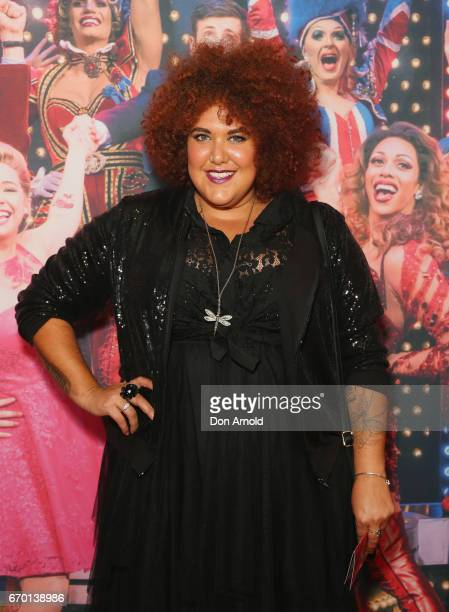 Casey Donovan arrives for the opening night of Cyndi Lauper's Kinky Boots at Capitol Theatre on April 19 2017 in Sydney Australia