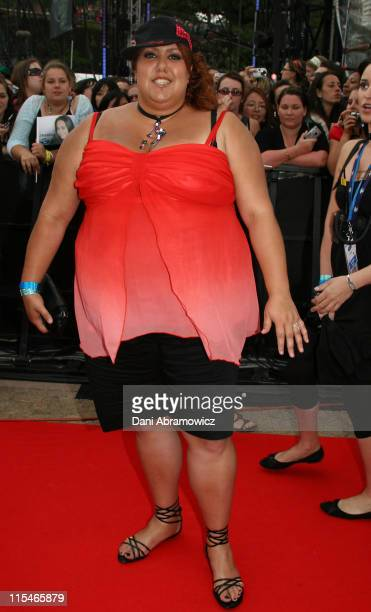 Casey Donovan during ''Australian Idol'' Grand Final November 26 2006 at Sydney Opera House in Sydney NSW Australia