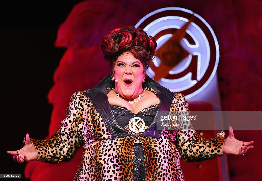 <a gi-track='captionPersonalityLinkClicked' href=/galleries/search?phrase=Casey+Donovan&family=editorial&specificpeople=207189 ng-click='$event.stopPropagation()'>Casey Donovan</a> plays the role of Killer Queen during the 'We Will Rock You' media call at Lyric Theatre, Star City on April 29, 2016 in Sydney, Australia.