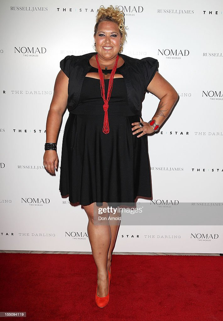 Casey Donovan poses at the book launch of 'Nomad Two Worlds' by Russell James on November 1, 2012 in Sydney, Australia.