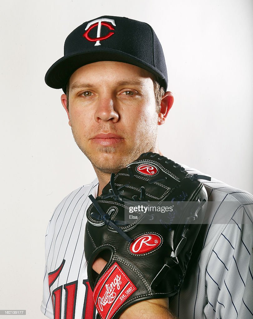 Casey Fien #50 of the Minnesota Twins poses for a portrait on February 19, 2013 at Hammond Stadium in Fort Myers, Florida.