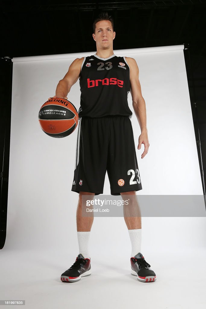 <a gi-track='captionPersonalityLinkClicked' href=/galleries/search?phrase=Casey+Jacobsen&family=editorial&specificpeople=201618 ng-click='$event.stopPropagation()'>Casey Jacobsen</a>, #23 of Brose Baskets Bamberg poses during the Brose Baskets Bamberg 2013/14 Turkish Airlines Euroleague Basketball Media Day Session at Stechert Arena on September 26, 2013 in Bamberg, Germany.