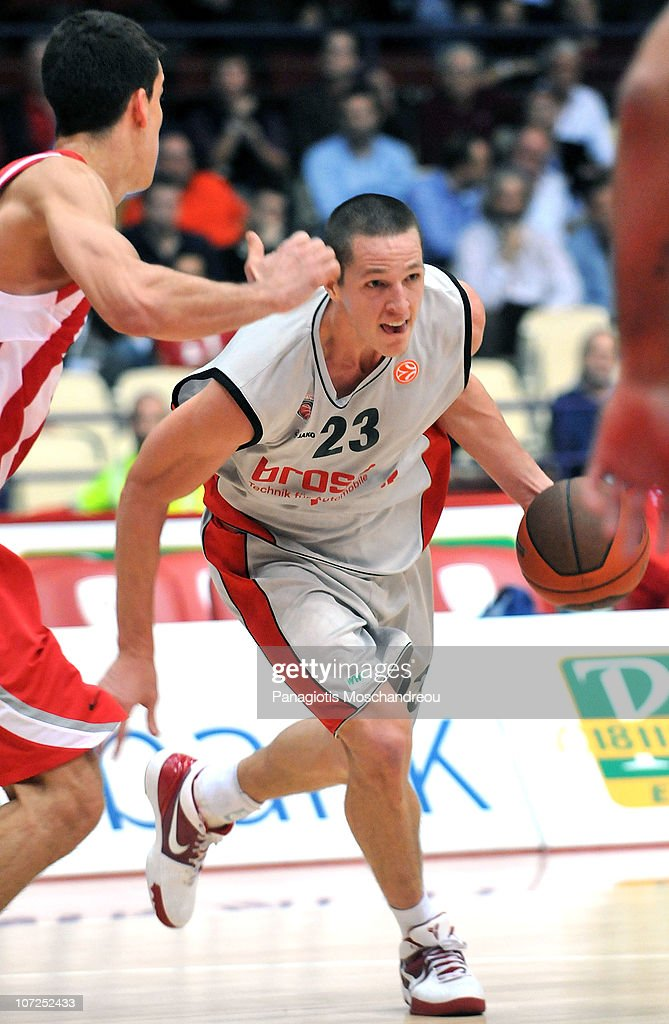<a gi-track='captionPersonalityLinkClicked' href=/galleries/search?phrase=Casey+Jacobsen&family=editorial&specificpeople=201618 ng-click='$event.stopPropagation()'>Casey Jacobsen</a>, #23 of Brose Baskets in action during the 2010-2011 Turkish Airlines Euroleague Regular Season Date 7 game between Olympiacos Piraeus vs Brose Baskets at Peace and Friendship Stadium on December 2, 2010 in Athens, Greece.