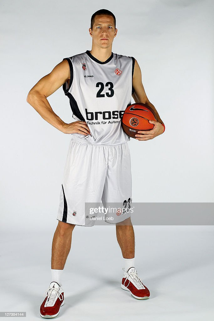 <a gi-track='captionPersonalityLinkClicked' href=/galleries/search?phrase=Casey+Jacobsen&family=editorial&specificpeople=201618 ng-click='$event.stopPropagation()'>Casey Jacobsen</a>, #23 of Brose Baskets poses during the 2011/12 Turkish Airlines Euroleague Basketball Media day on September 26, 2011 in Bamberg, Germany.