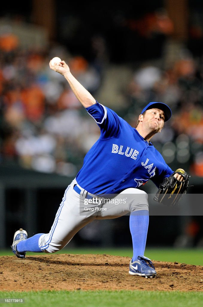 <a gi-track='captionPersonalityLinkClicked' href=/galleries/search?phrase=Casey+Janssen&family=editorial&specificpeople=598479 ng-click='$event.stopPropagation()'>Casey Janssen</a> #44 of the Toronto Blue Jays pitches against the Baltimore Orioles at Oriole Park at Camden Yards on September 25, 2012 in Baltimore, Maryland.