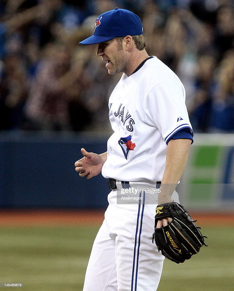 <a gi-track='captionPersonalityLinkClicked' href=/galleries/search?phrase=Casey+Janssen&family=editorial&specificpeople=598479 ng-click='$event.stopPropagation()'>Casey Janssen</a> #44 of the Toronto Blue Jays reacts to the final out against the Baltimore Orioles during MLB action at The Rogers Centre May 30, 2012 in Toronto, Ontario, Canada.