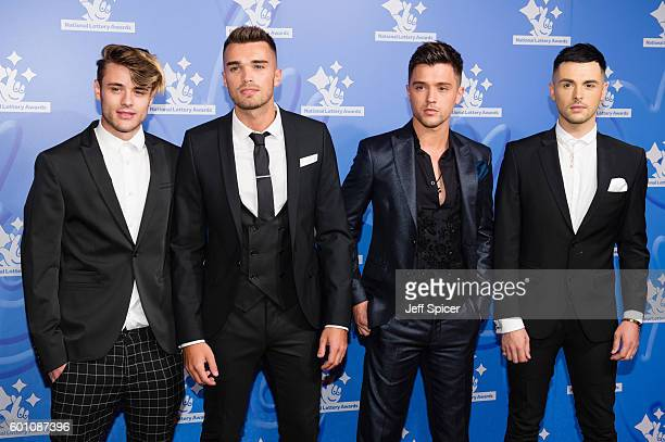 Casey Johnson Josh Cuthbert JJ Hamblett and Jaymi Hensley from Union J arrive for the National Lottery Awards 2016 at The London Studios on September...