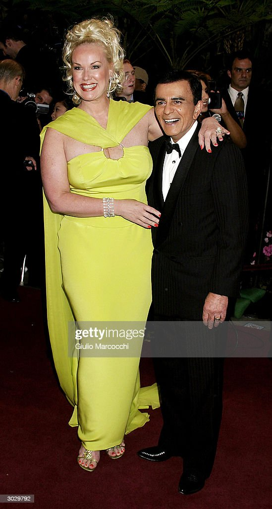 Casey Kasem (R) and guest arrive at the 13th Annual Night of 100 Stars Oscar Viewing Black Tie Gala, February 29, 2004 at the Beverly Hills Hotel in Beverly Hills, California.