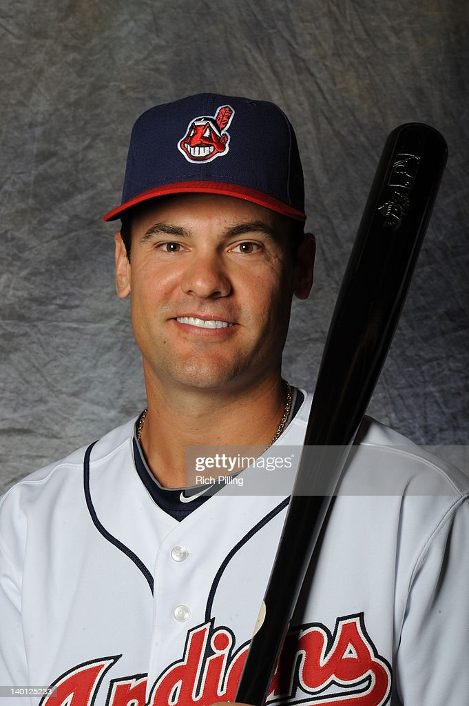 <a gi-track='captionPersonalityLinkClicked' href=/galleries/search?phrase=Casey+Kotchman&family=editorial&specificpeople=240573 ng-click='$event.stopPropagation()'>Casey Kotchman</a> #35 of the Cleveland Indians poses for a portrait during a photo day at Goodyear Ballpark on February 28, 2012 in Goodyear, Arizona.