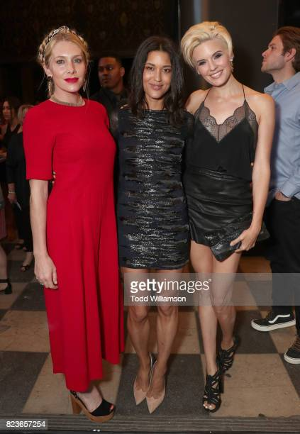 Casey LaBow Julia Jones and Maggie Grace attend the premiere Of The Weinstein Company's 'Wind River' at The Theatre at Ace Hotel on July 26 2017 in...
