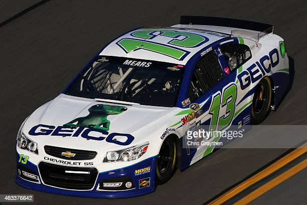 Casey Mears driver of the GEICO Chevrolet practices for the NASCAR Sprint Cup Series 3rd Annual Sprint Unlimited at Daytona International Speedway on...
