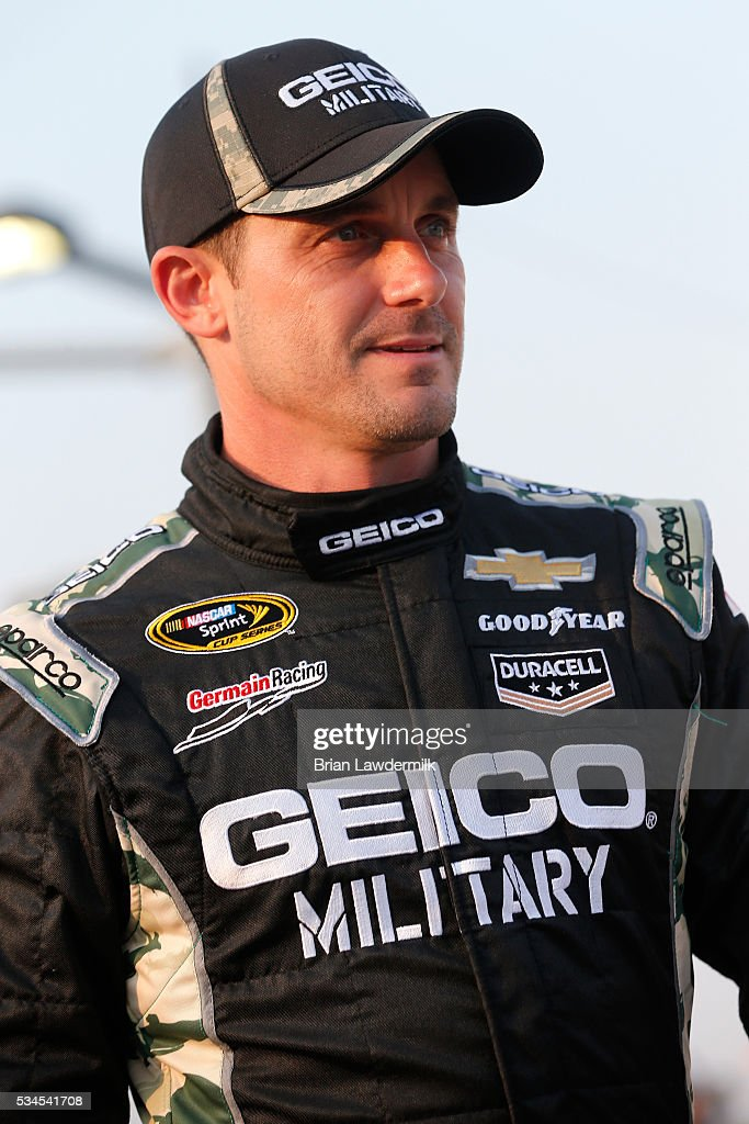 <a gi-track='captionPersonalityLinkClicked' href=/galleries/search?phrase=Casey+Mears&family=editorial&specificpeople=176485 ng-click='$event.stopPropagation()'>Casey Mears</a>, driver of the #13 GEICO Chevrolet, stands on the grid during qualifying for the NASCAR Sprint Cup Series Coca-Cola 600 at Charlotte Motor Speedway on May 27, 2016 in Charlotte, North Carolina.
