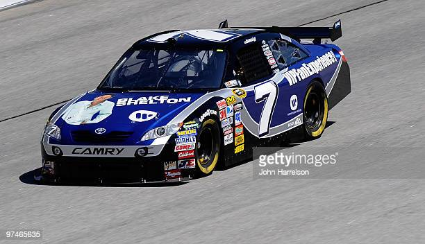 Casey Mears drives the Choctaw Casino Chevrolet during practice for the NASCAR Sprint Cup Series Kobalt Tools 500 at Atlanta Motor Speedway on March...