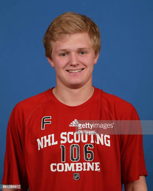 Casey Mittelstadt poses for a headshot at the NHL Combine at HarborCenter on June 1 2017 in Buffalo New York
