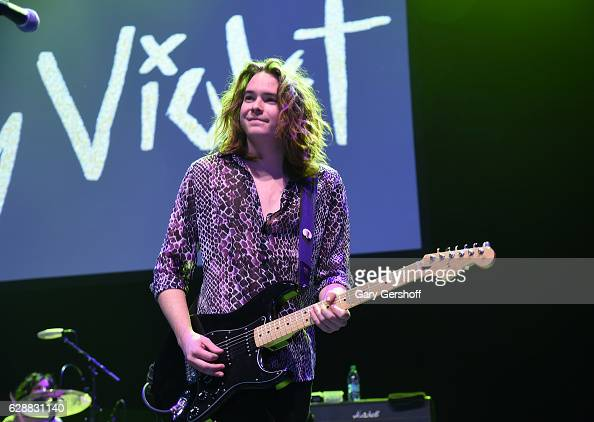 Casey Moreta of the band Hey Violet performs on stage during Z100 CocaCola All Access Lounge at Z100's Jingle Ball 2016 Presented by Capital One...