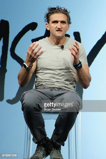 Casey Neistat speaks during the Bleacher Report CNN and Great Big Story Newfront 2017 on May 4 2017 in New York City CNN Newfront 2017_BB 26969_002