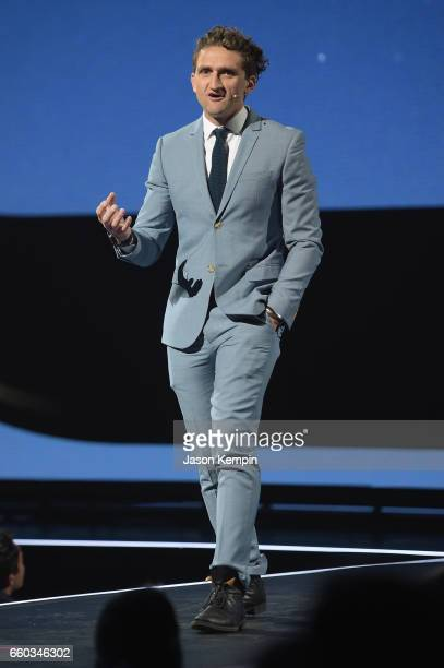 Casey Neistat speaks onstage during Samsung Creators Unpacked at Lincoln Center on March 29 2017 in New York City