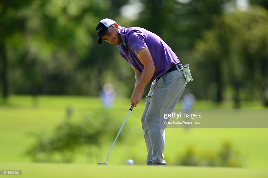 Casey O'toole of USA pictured during thr round two of the Yeangder Tournament Players Championship 2016 at Linkou International Golf Club on July 1, 2016 in Taipei, Taiwan.