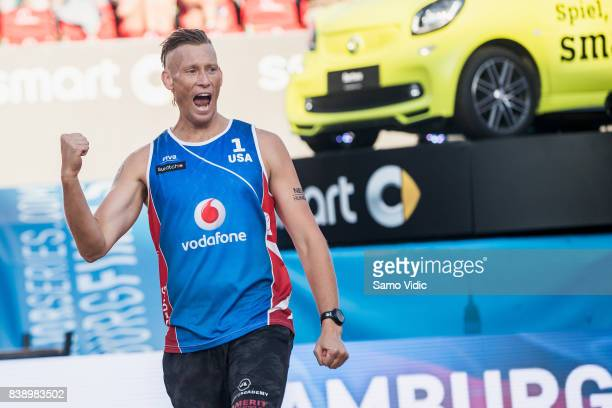 Casey Patterson of the United States reacts during the match against Markus Bockermann and Lorenz Schuemann of Germany during Day 3 of the Swatch...