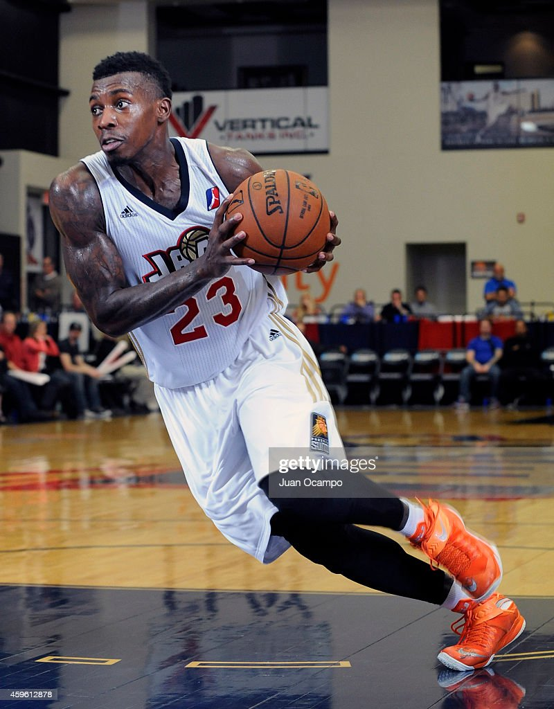 <a gi-track='captionPersonalityLinkClicked' href=/galleries/search?phrase=Casey+Prather&family=editorial&specificpeople=7358715 ng-click='$event.stopPropagation()'>Casey Prather</a> #23 of the Bakersfield Jam drives to the basket against the Santa Cruz Warriors during a D-League game on November 25, 2014 at Dignity Health Event Center in Bakersfield, California.
