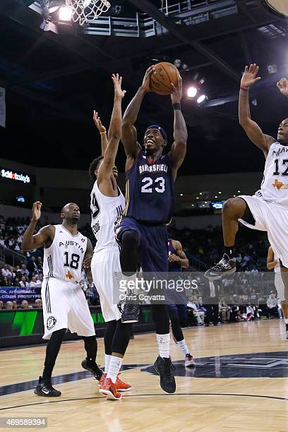 Casey Prather of the Bakersfield Jam drives to the basket against the Austin Spurs in game two of the 2015 DLeague playoffs at the Cedar Park Center...