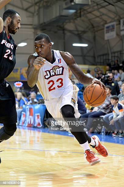 Casey Prather of the Bakersfield Jam drives to the hoop against the Sioux Falls Skyforce during the 2015 NBA DLeague Showcase presented by Samsung at...