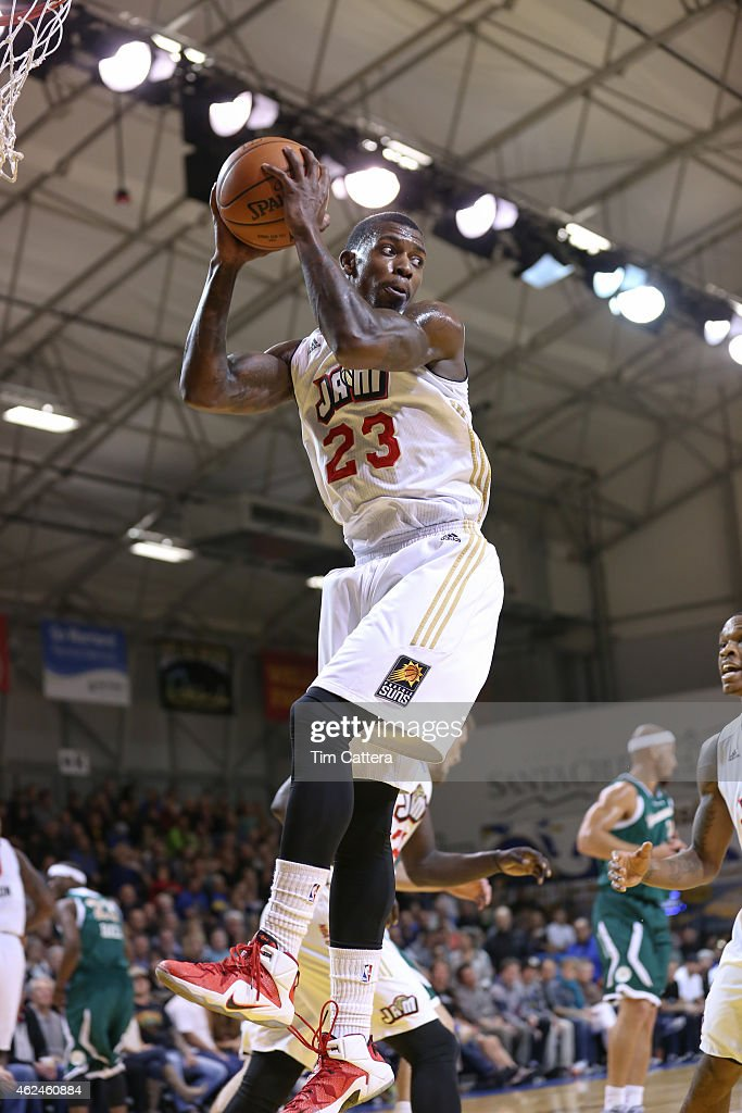 <a gi-track='captionPersonalityLinkClicked' href=/galleries/search?phrase=Casey+Prather&family=editorial&specificpeople=7358715 ng-click='$event.stopPropagation()'>Casey Prather</a> #23 of the Bakersfield Jam grabs a rebound against the Santa Cruz Warriors during an NBA D-League game on January 27, 2015 at Kaiser Permanente Arena in Santa Cruz, California.