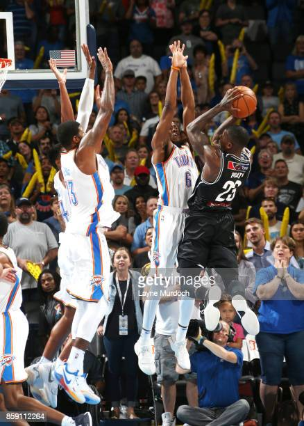 Casey Prather of the Melbourne United shoots the ball against the Oklahoma City Thunder during the preseason game on October 8 2017 at Chesapeake...