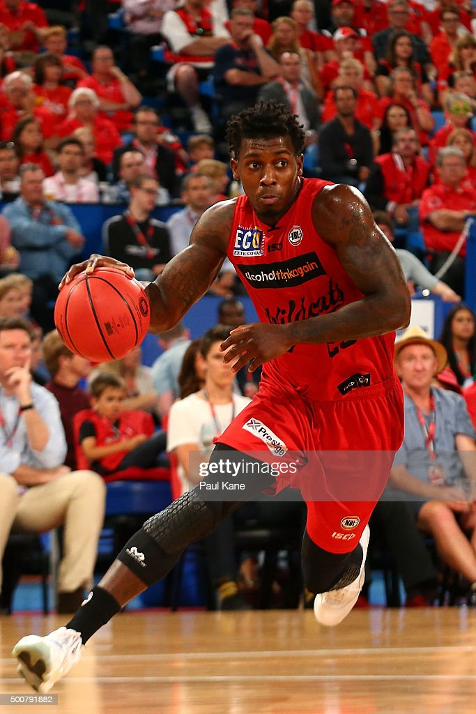 <a gi-track='captionPersonalityLinkClicked' href=/galleries/search?phrase=Casey+Prather&family=editorial&specificpeople=7358715 ng-click='$event.stopPropagation()'>Casey Prather</a> of the Wildcats drives to the basket during the round 10 NBL match between the Perth Wildcats and Melbourne United at Perth Arena on December 10, 2015 in Perth, Australia.