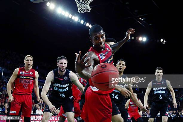 Casey Prather of the Wildcats loses the ball during the round 11 NBL match between New Zealand Breakers and Perth Wildcats at Vector Arena on...